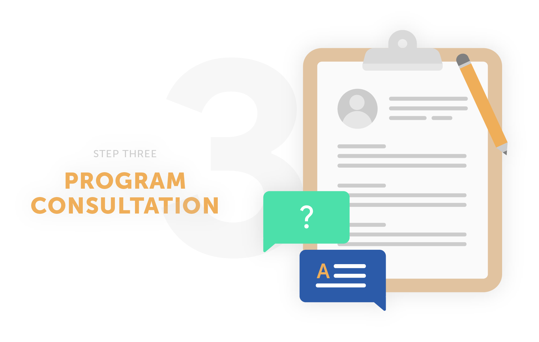 step three program consultation
